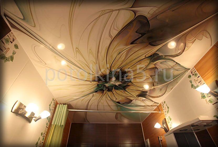 Натяжные потолки арт печать фото